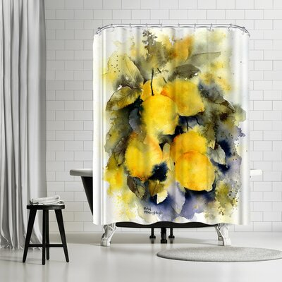 Rachel McNaughton Lemon Tree Shower Curtain