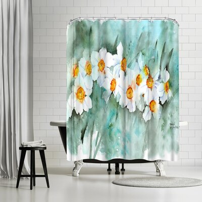 Rachel McNaughton Narcissus in Line Shower Curtain