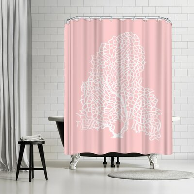 Adams Ale Mil Pink Gorgonian Shower Curtain