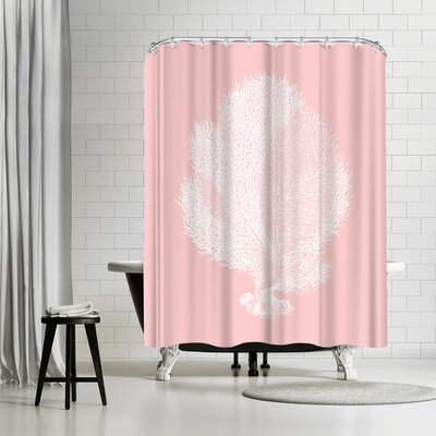 Adams Ale Mil Pink Seafn Coral Shower Curtain