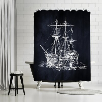 Adams Ale Ship Shower Curtain