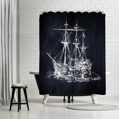 Adams Ale Ship Shower Curtain