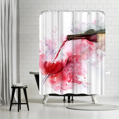 Rachel McNaughton Red Wine Pour Shower Curtain