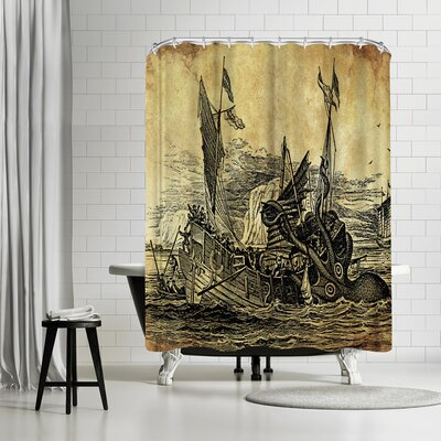 Adams Ale Vintage Kraken New Shower Curtain