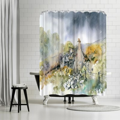 Rachel McNaughton Ruined Cottage Shower Curtain