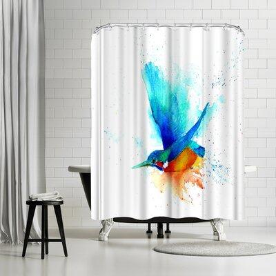 Rachel McNaughton Sapphire Streak Cmyk Shower Curtain
