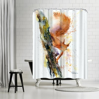 Rachel McNaughton Squirrel Shower Curtain