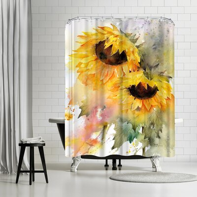 Rachel McNaughton Sunflower Duo Shower Curtain