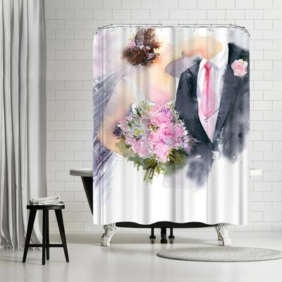 Rachel McNaughton Weddin Kiss Shower Curtain