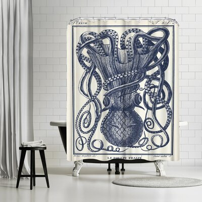 Adams Ale Tangles Tentacles Shower Curtain