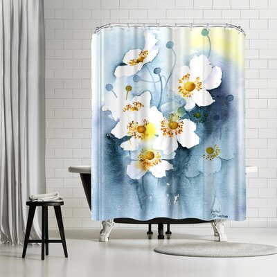 Rachel McNaughton Japanese Anemones Shower Curtain