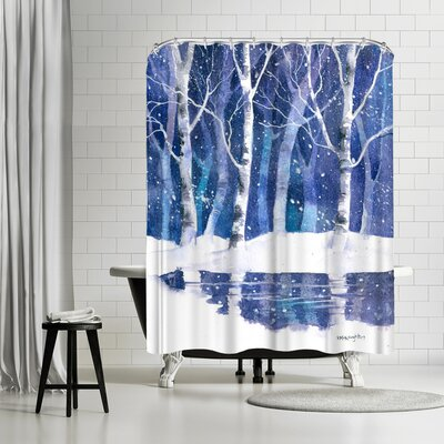 Rachel McNaughton Trees and Water Shower Curtain