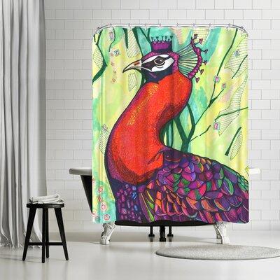 Adams Ale Belinda Peacock Shower Curtain