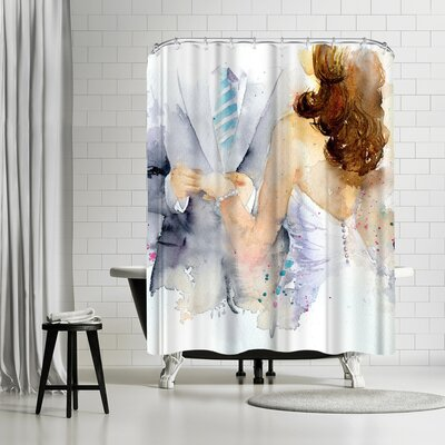 Rachel McNaughton with This Ring Shower Curtain
