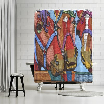 Solveig Studio Horses Lena and Joanna Shower Curtain
