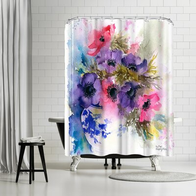 Rachel McNaughton Anemones Vase Shower Curtain