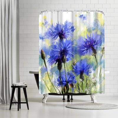 Rachel McNaughton Cornflowers Shower Curtain