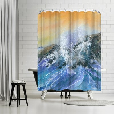 Rachel McNaughton Crashing Surf Shower Curtain