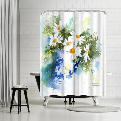 Rachel McNaughton Daisies Shower Curtain