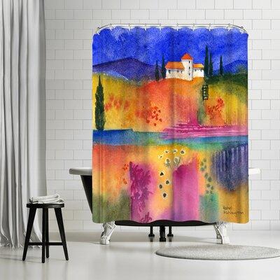 Rachel McNaughton Flowery Fields Shower Curtain