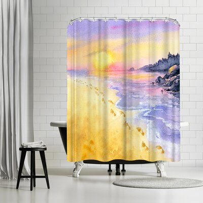 Rachel McNaughton into the Sunset Shower Curtain