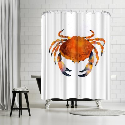 Rachel McNaughton Orange Crab Shower Curtain