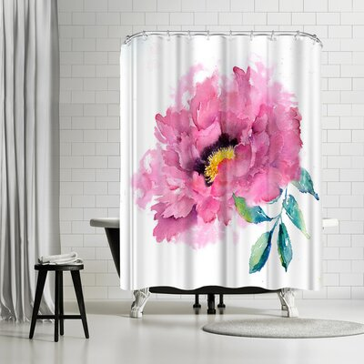 Rachel McNaughton Peony Shower Curtain