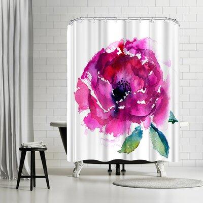 Rachel McNaughton Pink Peony Shower Curtain