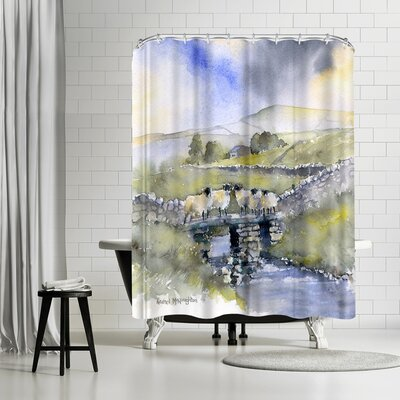 Rachel McNaughton Sheep on a Bridge Shower Curtain