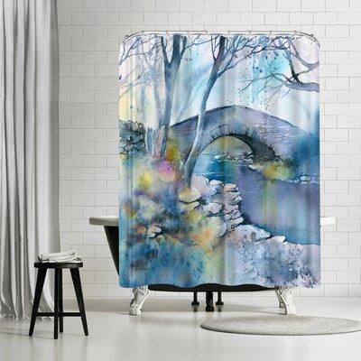 Rachel McNaughton Winter Bridge Shower Curtain