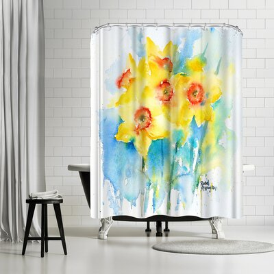 Rachel McNaughton Yellow Narcissus Shower Curtain
