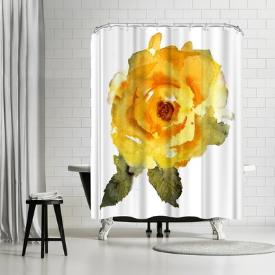Rachel McNaughton Yellow Rose Shower Curtain
