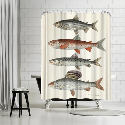 Adams Ale Fourfish Shower Curtain