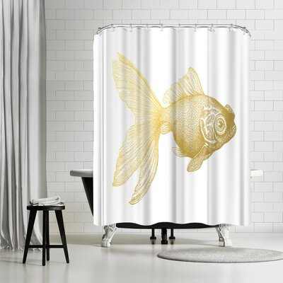 Adams Ale Goldy the Gold Fish Shower Curtain