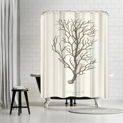 Adams Ale Greige Branch Shower Curtain