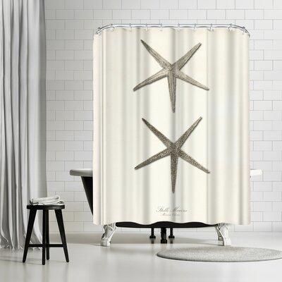 Adams Ale Greige Star Fish Shower Curtain