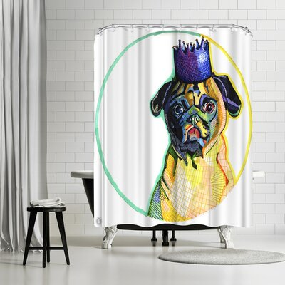 Solveig Studio Pug Ester Shower Curtain