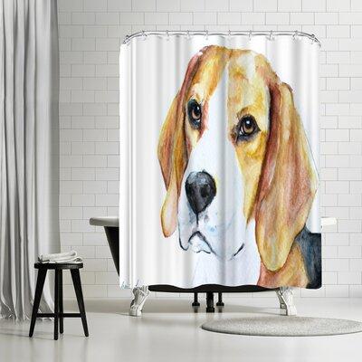 Allison Gray Beagle Shower Curtain