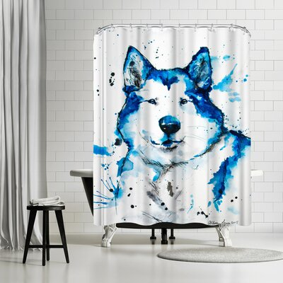 Allison Gray Husky Shower Curtain
