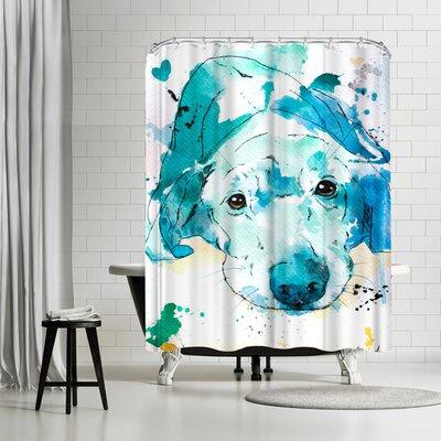 Allison Gray Labrador Retriever Shower Curtain