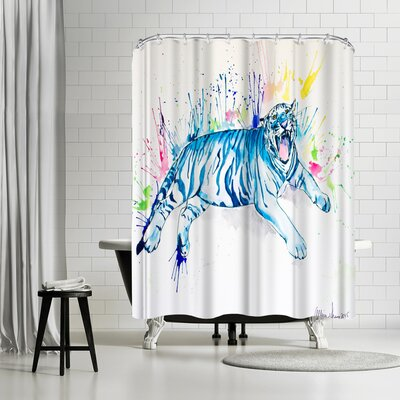 Allison Gray Tiger Shower Curtain