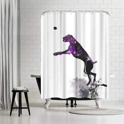 Allison Gray Boxer Shower Curtain