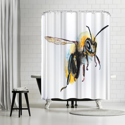 Allison Gray Bumblebee Shower Curtain