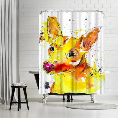 Allison Gray Chihuahua Mix Shower Curtain