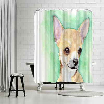 Allison Gray Chihuahua Shower Curtain
