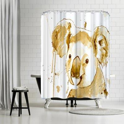 Allison Gray Coffee Koala Bear Shower Curtain