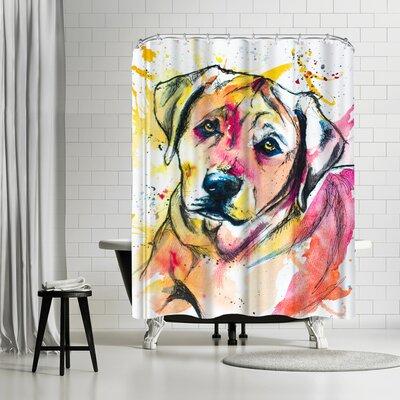 Allison Gray Colorful Lab Mix Shower Curtain