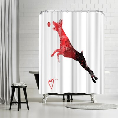 Allison Gray Doberman Pinscher Silhouette Shower Curtain