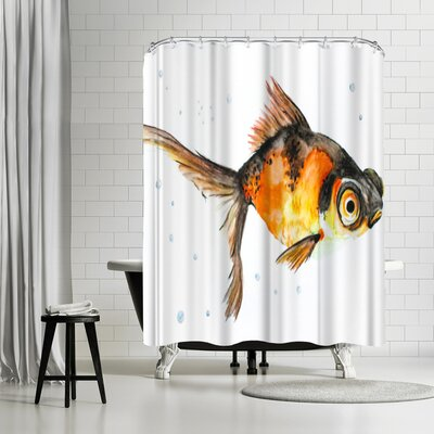 Allison Gray Fancy Goldfish Shower Curtain