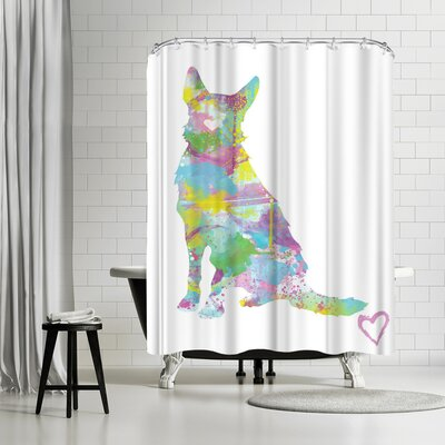 Allison Gray German Shepherd Shower Curtain